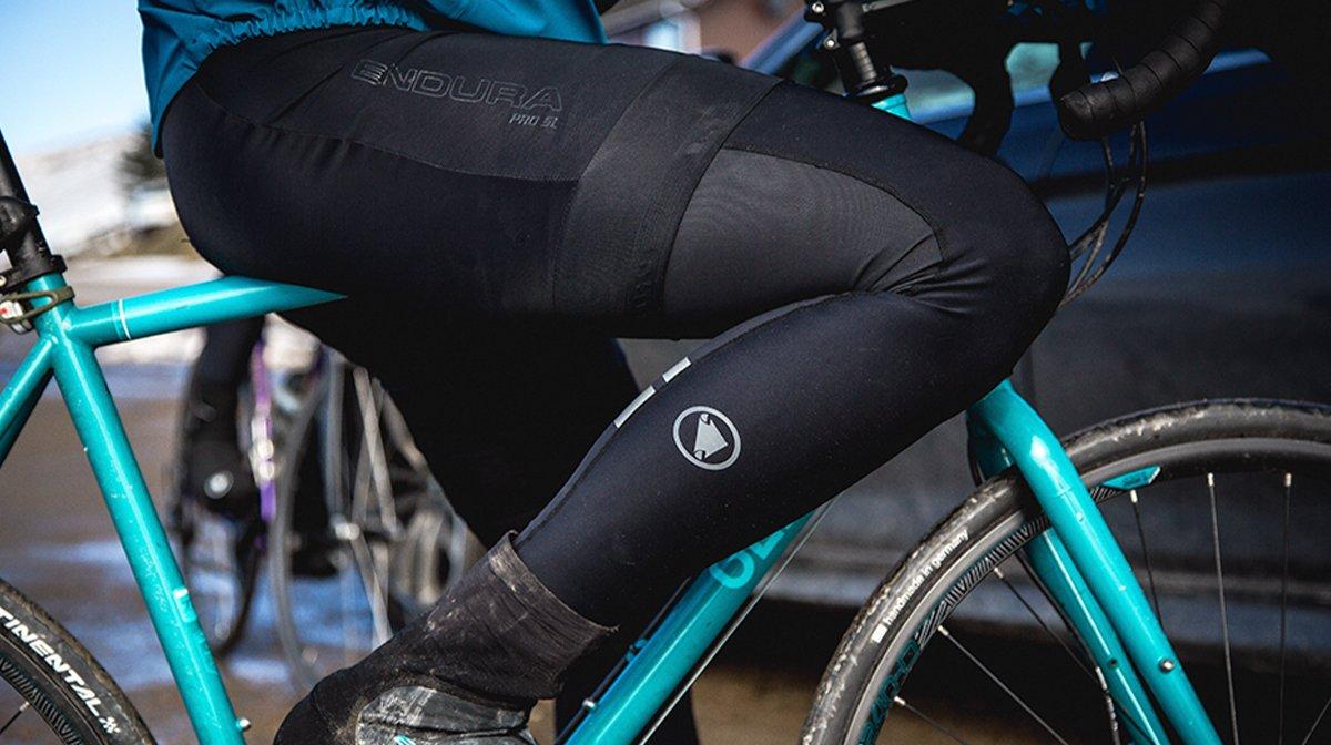 Endura tights on cyclist