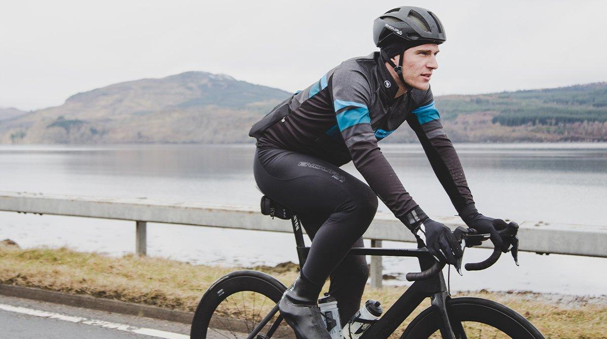 Cyclist in Endura gear