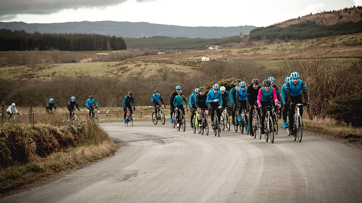 Cyclists head off into distance