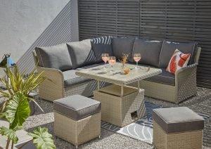 outdoor garden sofa set