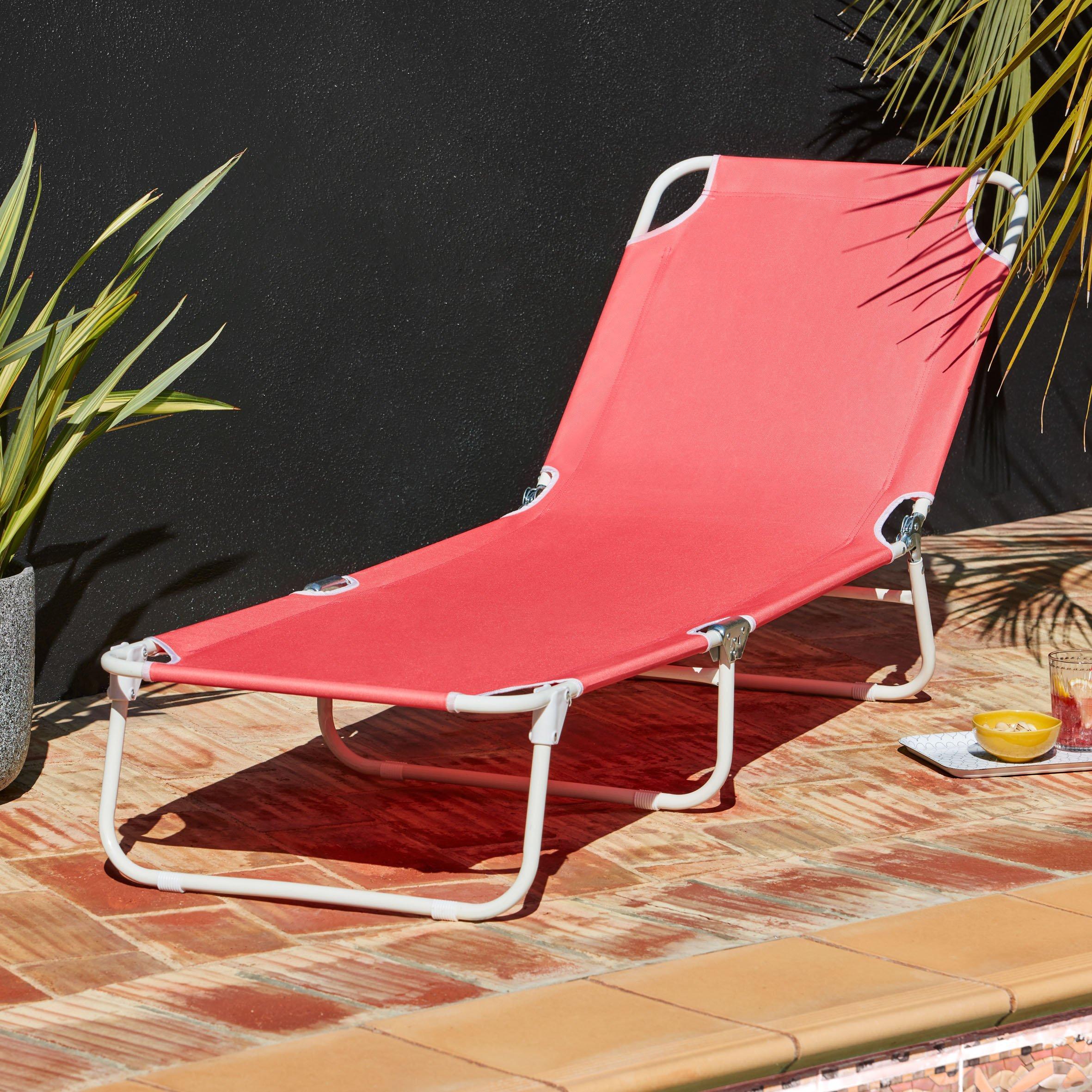 relaxing outdoor sun lounger