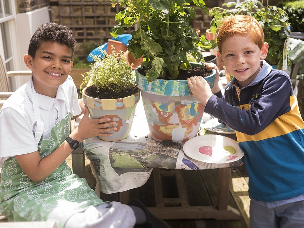 How to Make a Portrait Plant Pot with Kids