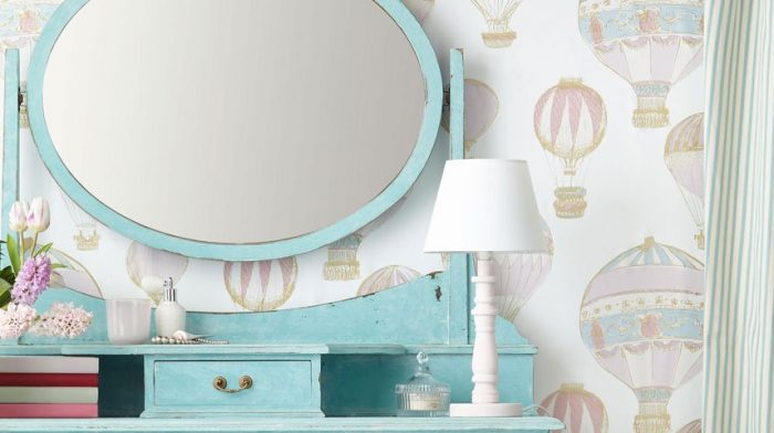 *   Pretty Pastel Bedroom