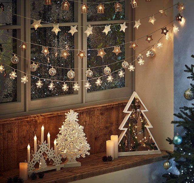 How To Hang Fairy Lights Indoors for Christmas