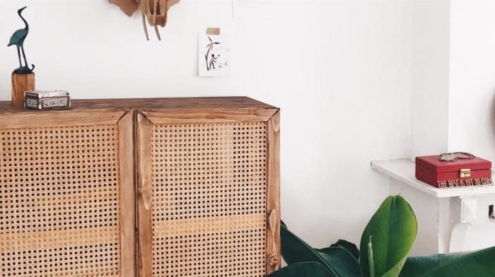 How to Create a Rattan Webbing Wardrobe