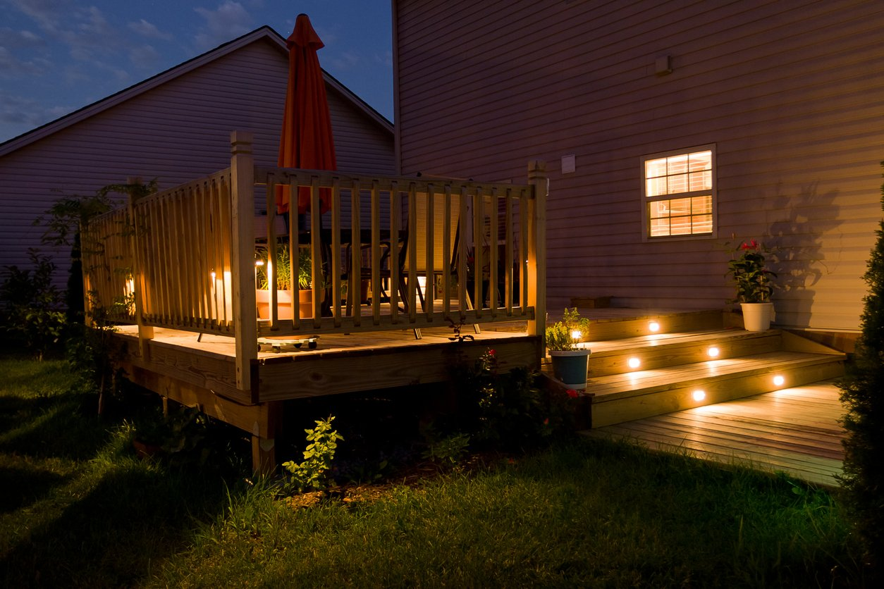 Fit out your garden decking and patio with some lighting