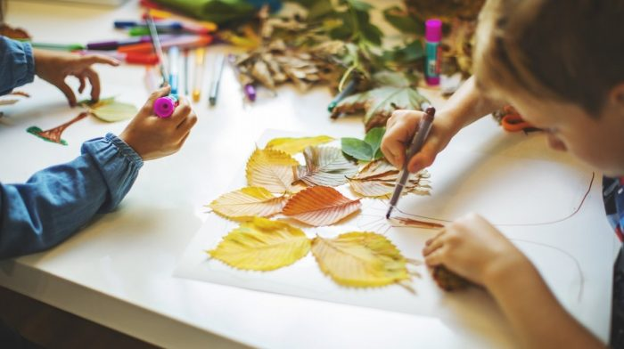 Painting with Leaves Ideas for Kids