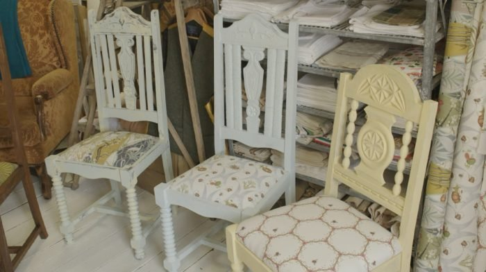 How To Upcycle and Upholster a Chair with Angel