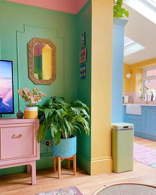 Colourful kitchen space