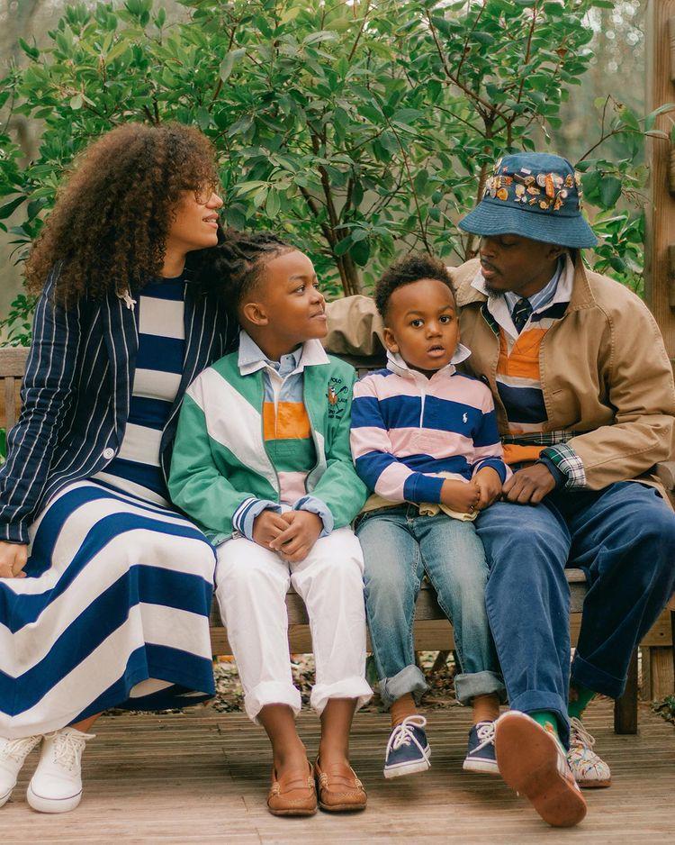 family wearing polo ralph lauren