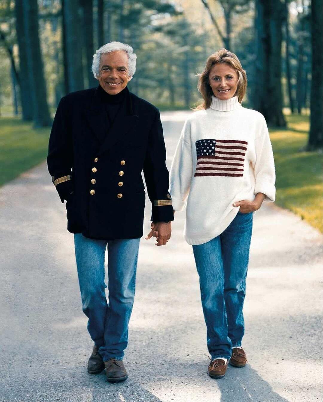 Ralph Lauren with his wife