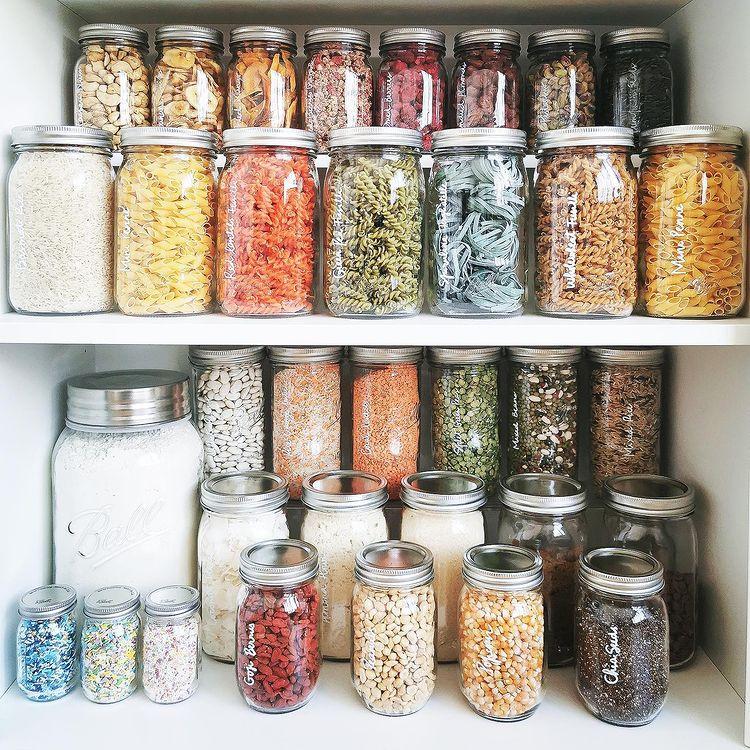 A organised pasta cupboard