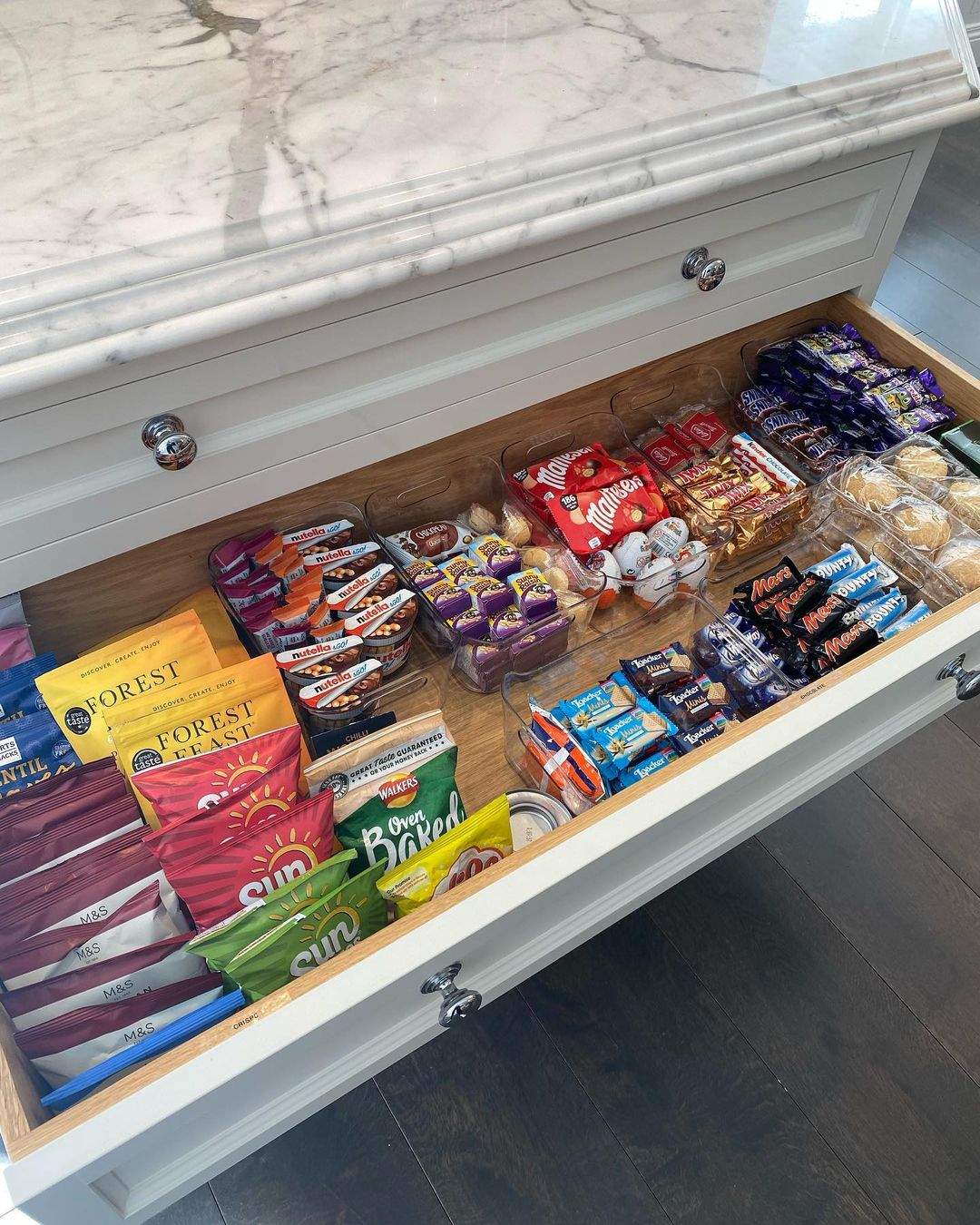 An organised sweet drawer