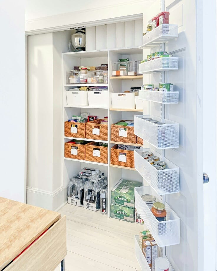 A oragnised cupboard