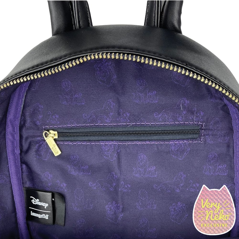Inside of our Loungefly Disney Moments Lion King Backpack