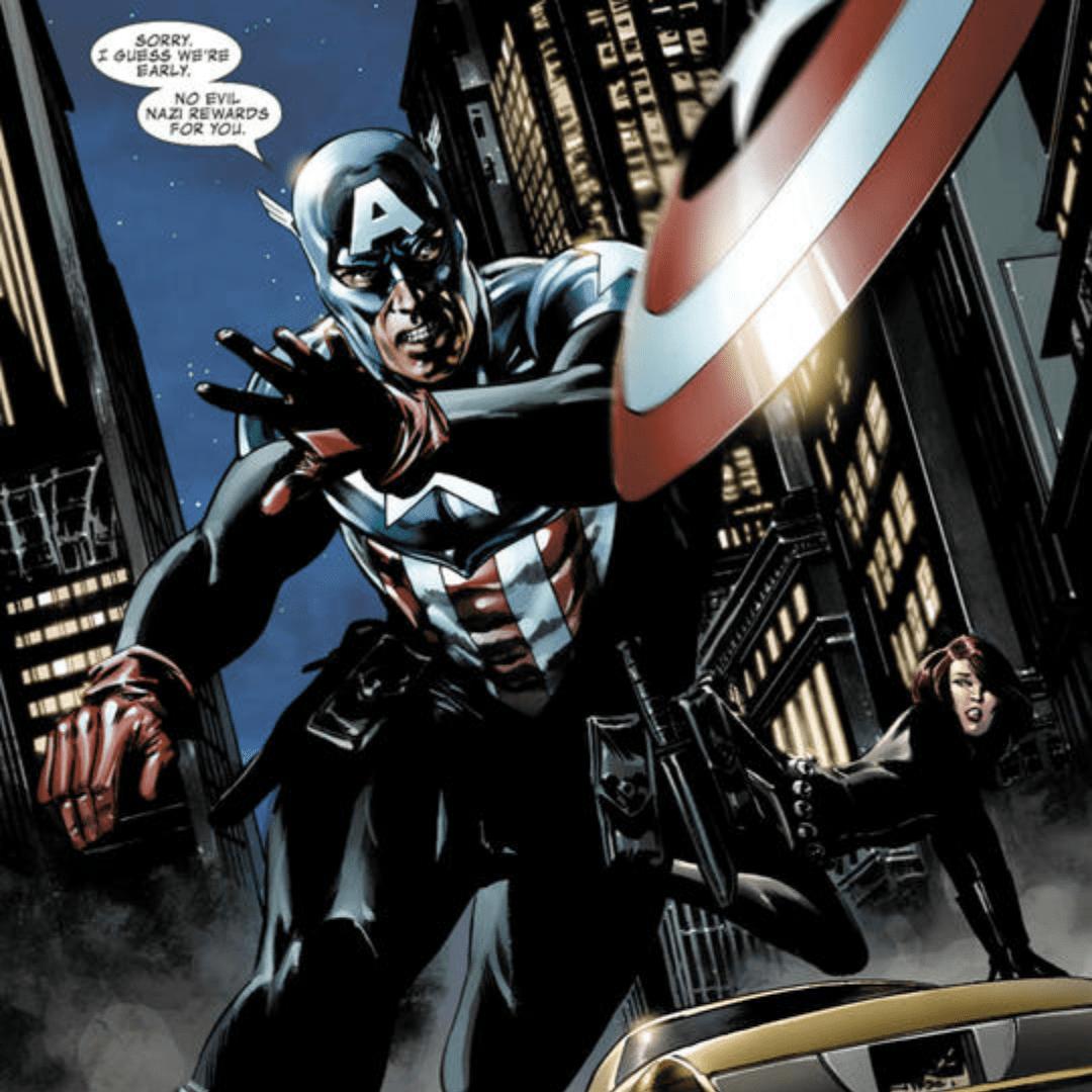 Bucky Barnes as Captain America in the comics