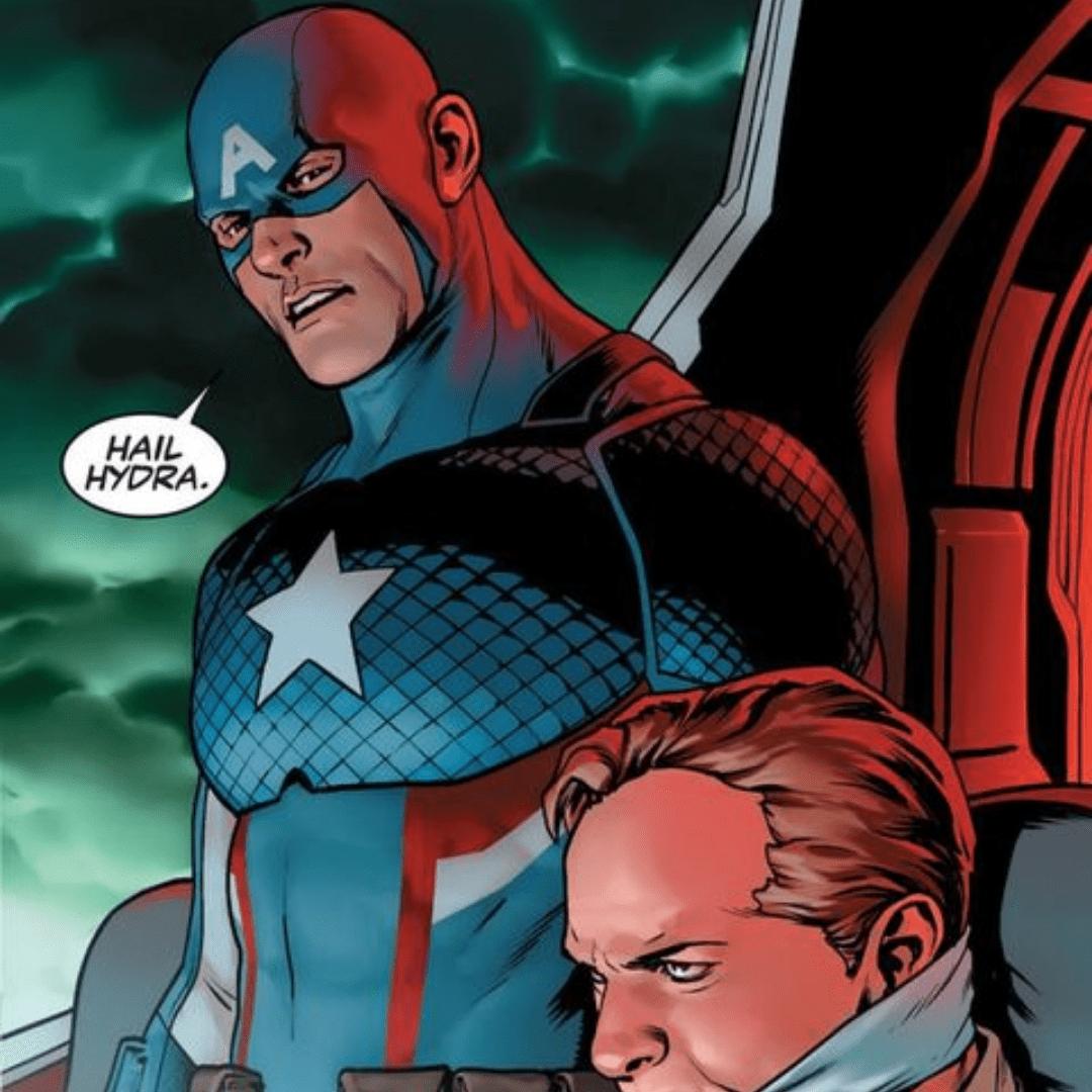 "Captain America saying ""Hail Hyrda"" in the comics"