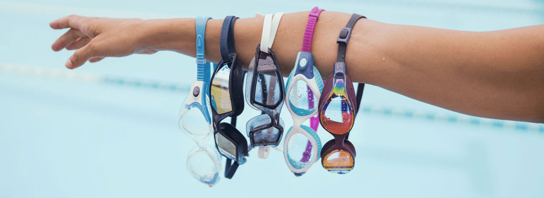 An array of Speedo goggles