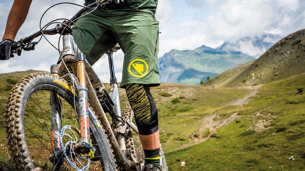 Close up of mountain biker