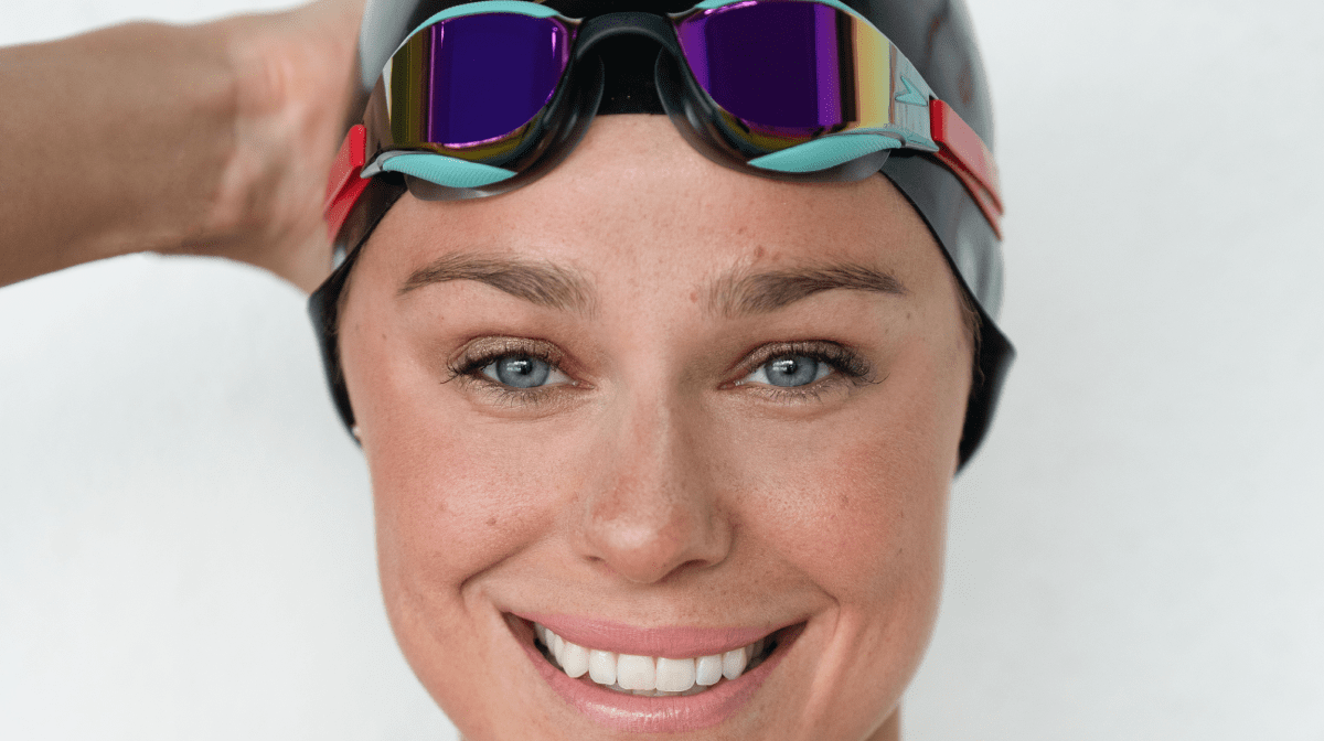 Pernille smiles up close