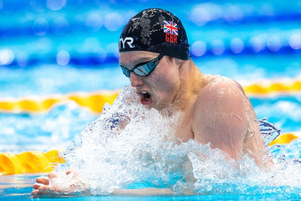 Duncan Scott in the water