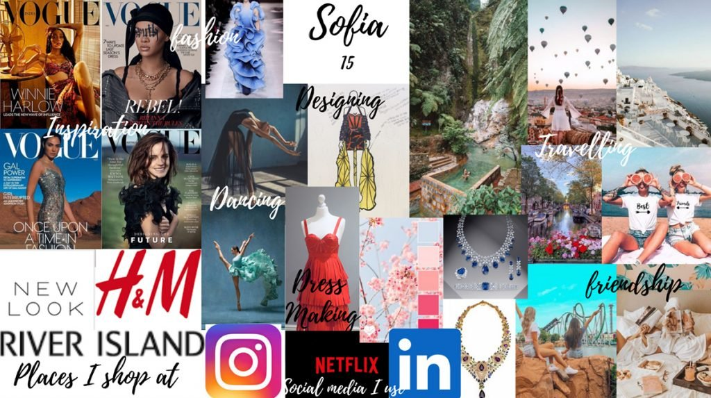mood board of magazine covers