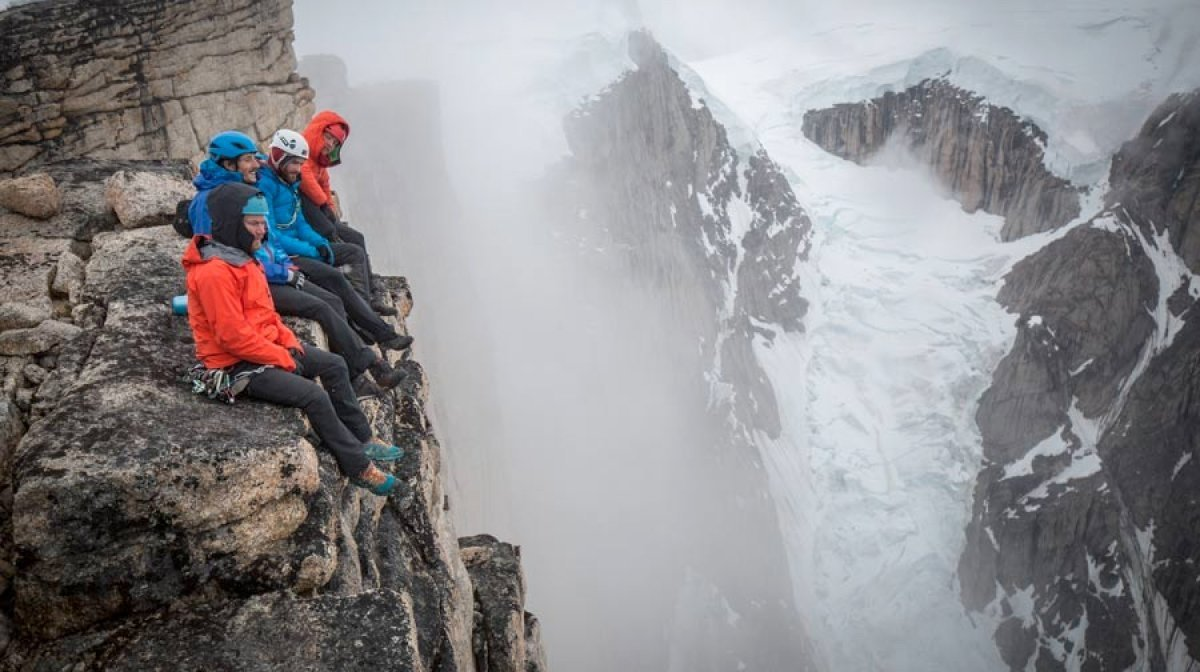 Leo Houlding and his team on route to the Mirror Wall