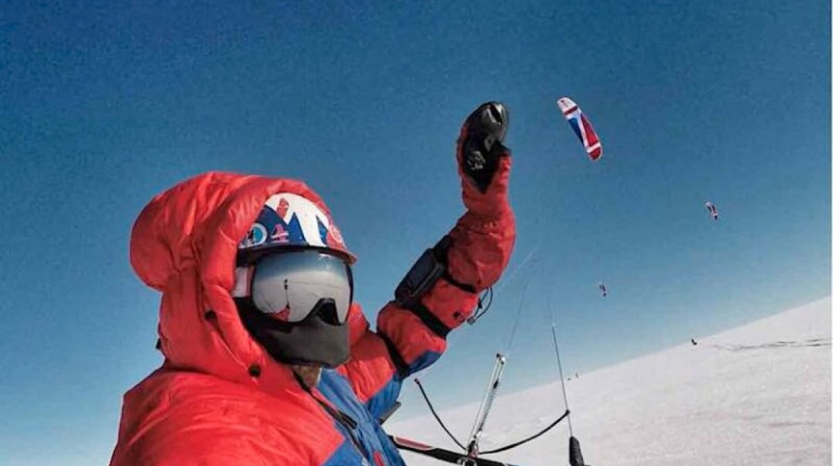 [LIVE] Greenland Snowkite GPS Tracking