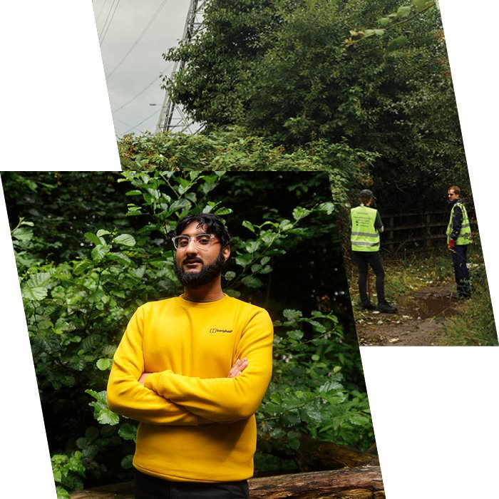 Man in yellow Berghaus jumper