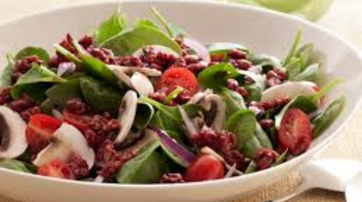Superfood Spinach Salad with Pomegranate-Glazed Walnuts