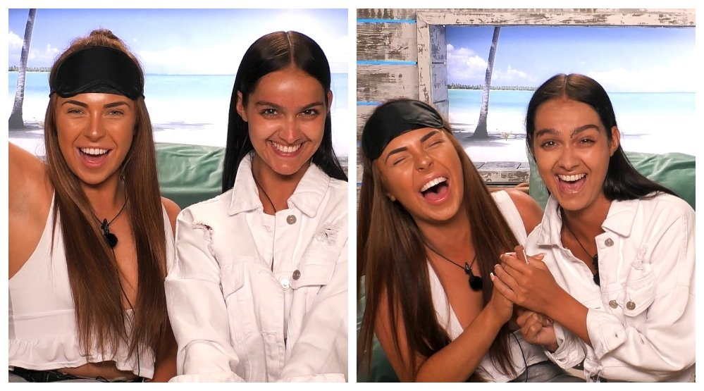 Love Island Demi and Siannise Blindfold Makeup Challenge