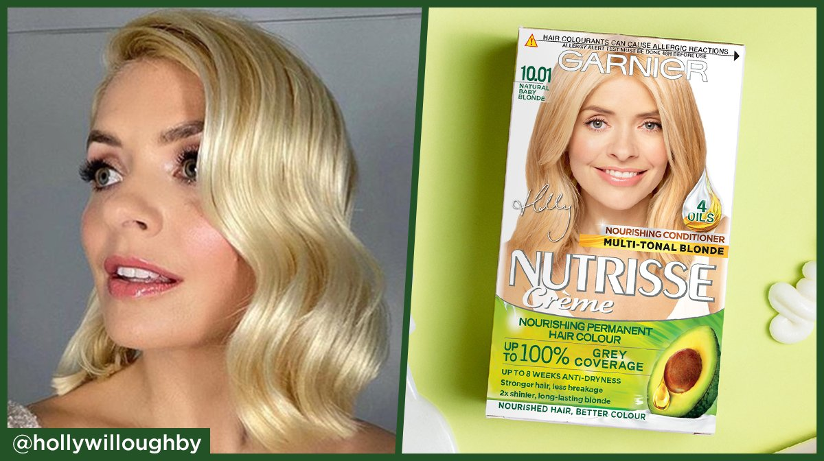 How to colour your hair at home with Holly Willoughby and Garnier Nutrisse