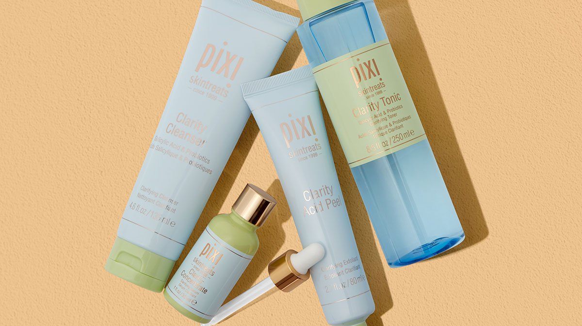 Bust your blemishes with Pixi's Clarity range