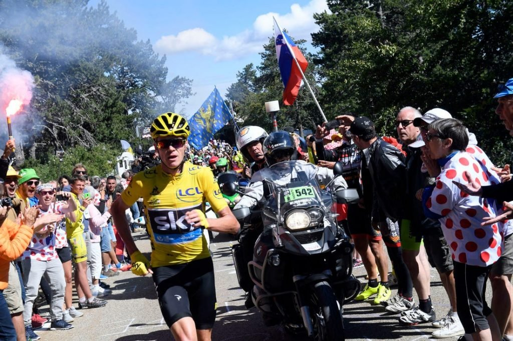 Chris Froome running up mont vantoux was probably one of the most memorable cycling moments of the last decade