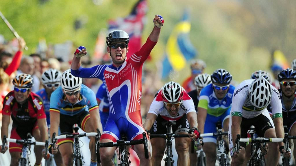 Mark Cavendish winning the World Championships in 2011