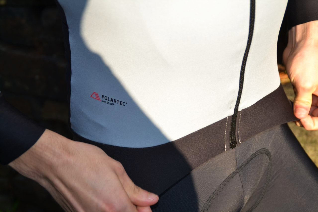 Polartec logo on the Sportful Fiandre Pro Medium Jacket