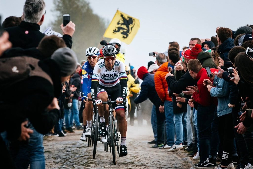 Peter Sagan riding Paris-Roubaix