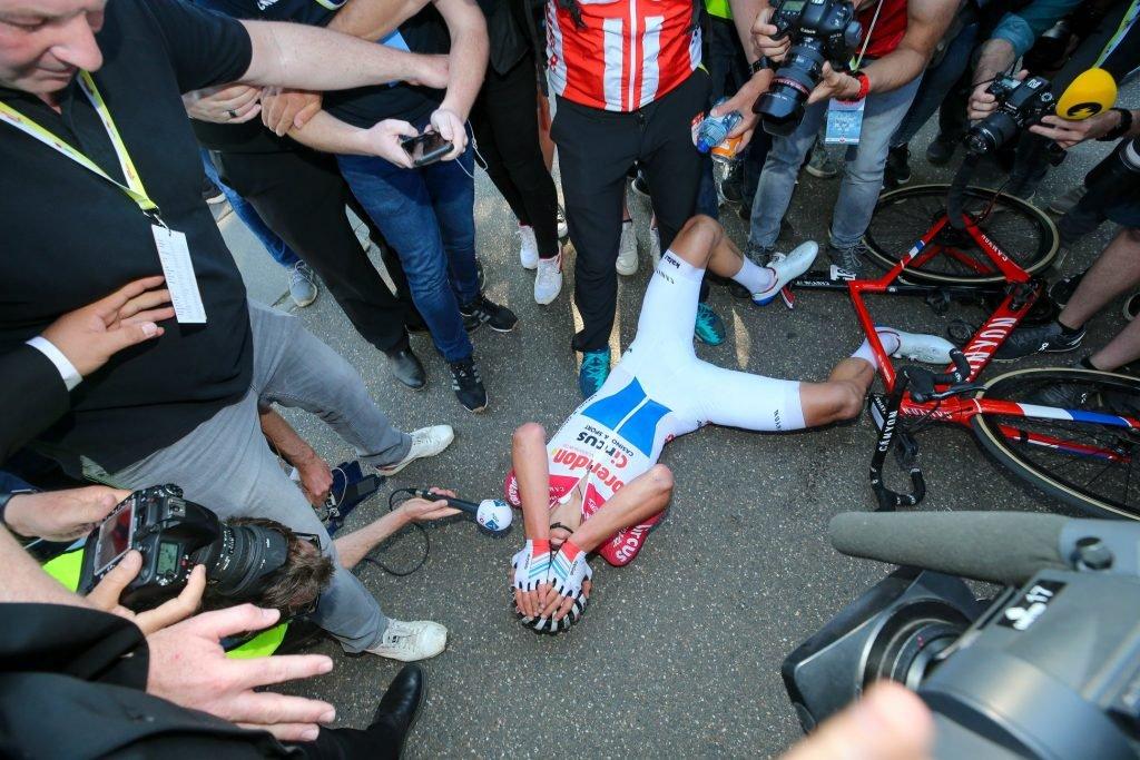 Mathieu Van Der Poel collapsed after Amstel Gold 2019