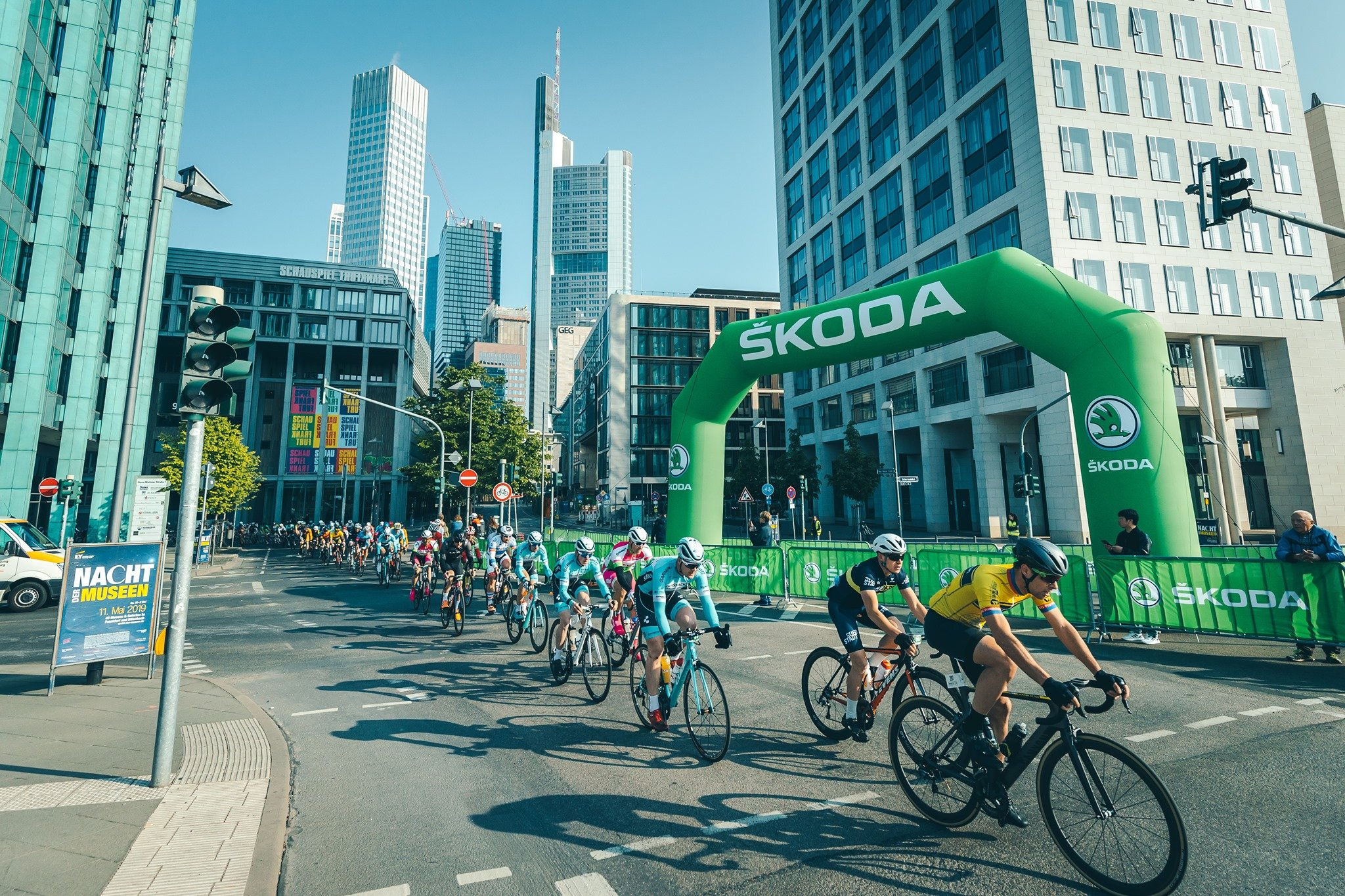 The peloton at Eschborn-Frankfurt