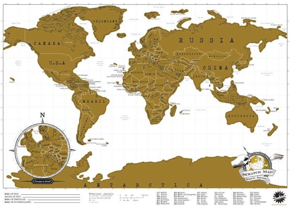 Travel Scratch Map