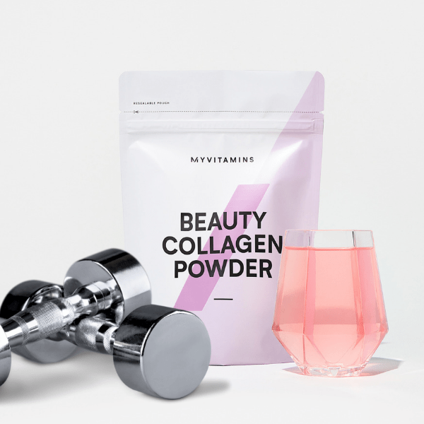 collagen powder pouch with weights