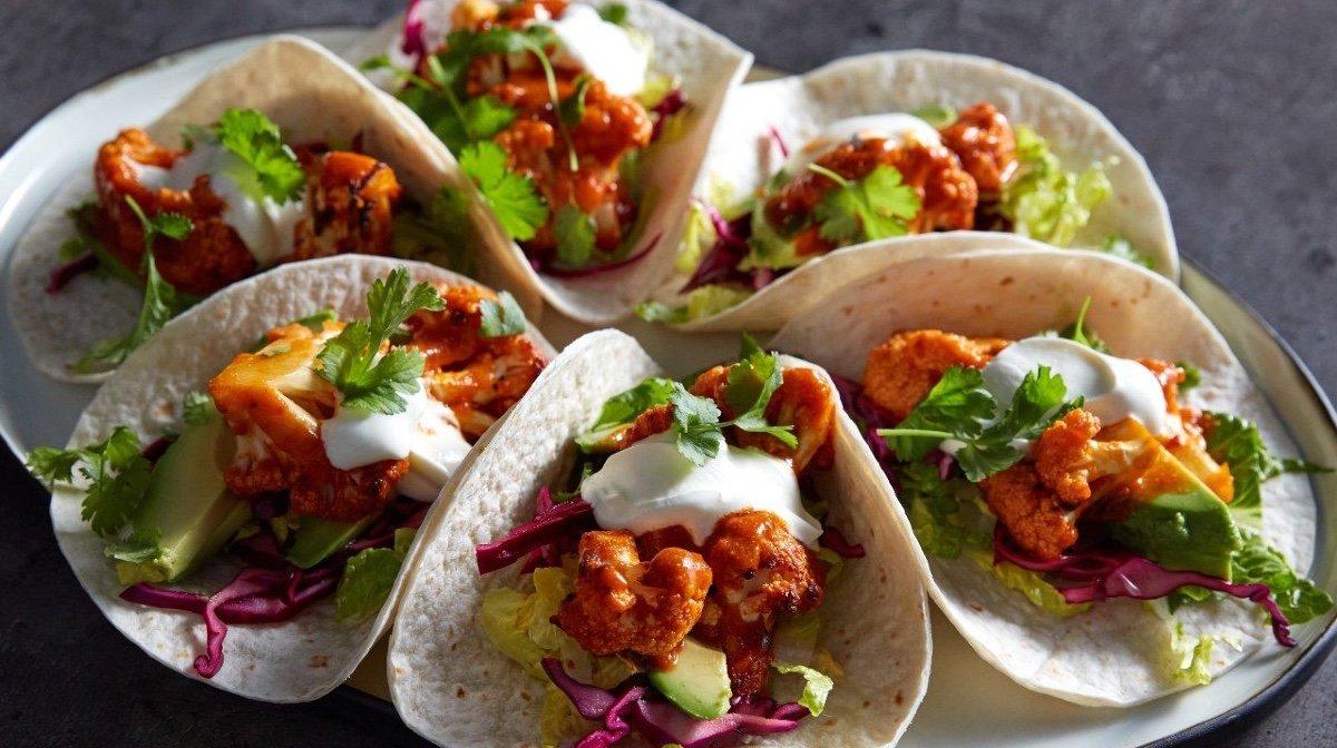 Vegan Tacos Με Buffalo Και Κουνουπίδι