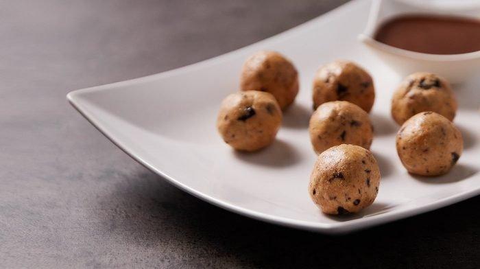 Μπουκίτσες Ζύμης Μπισκότου Με Φυστικοβούτυρο | Υγιεινά, σνακ υψηλής περιεκτικότητας σε πρωτεΐνες