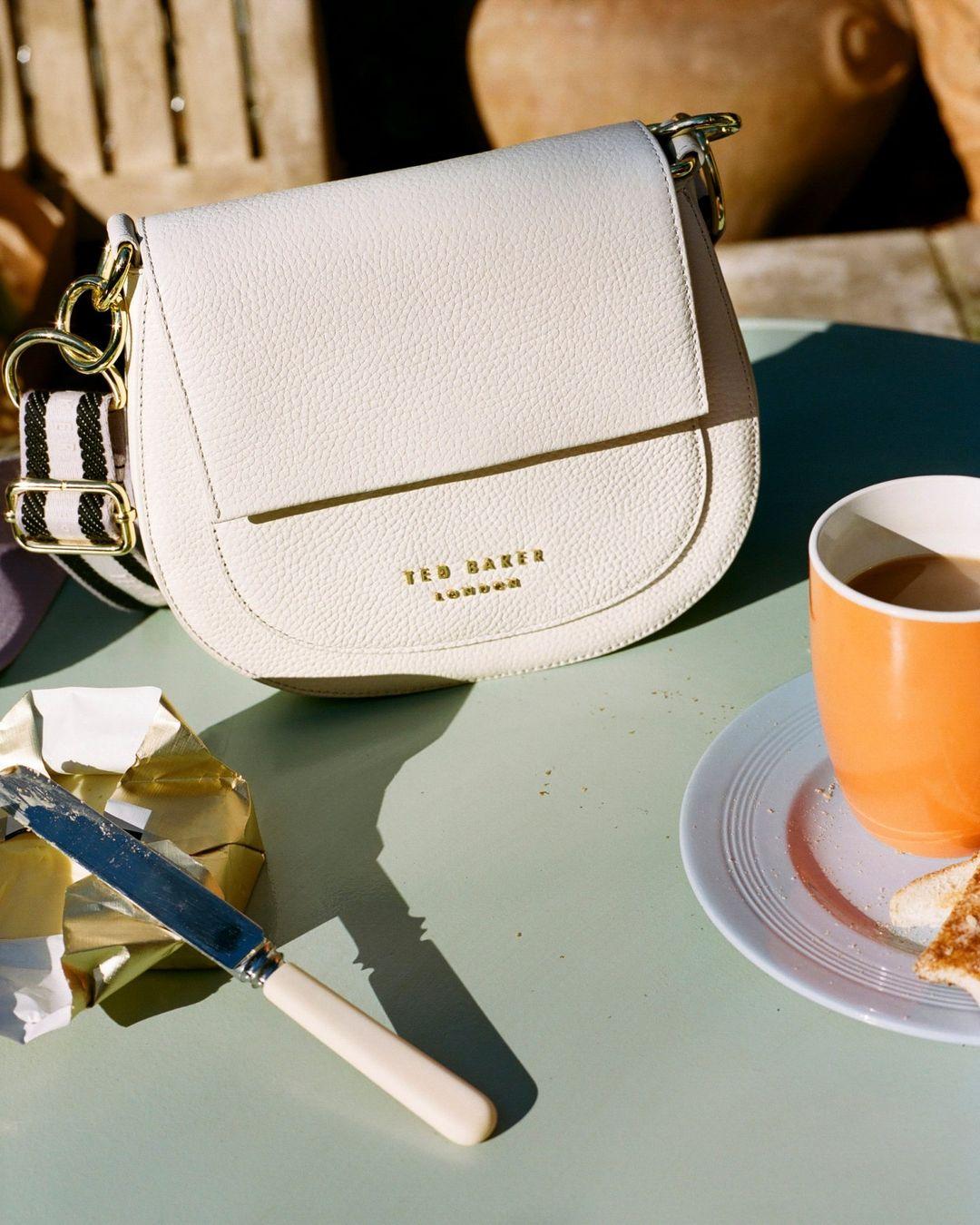 Ted Baker bag on a restaurant table