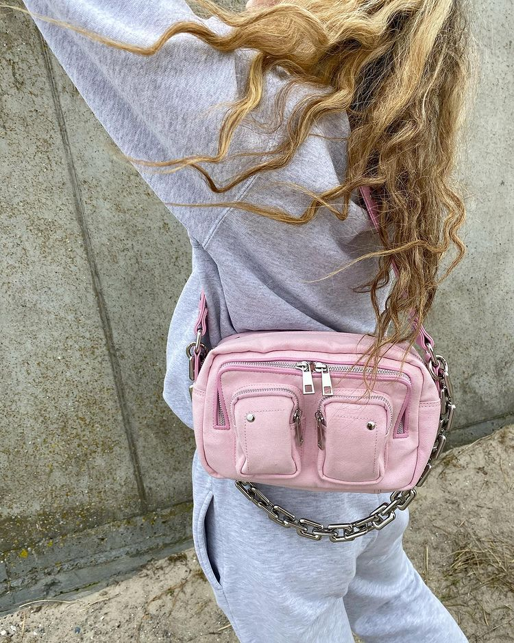 A pink Ellie Nunoo bag