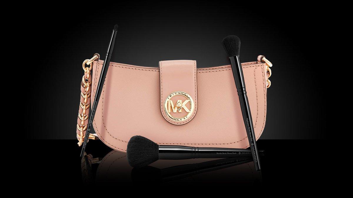 Michael Kors handbag and Illamasqua tools