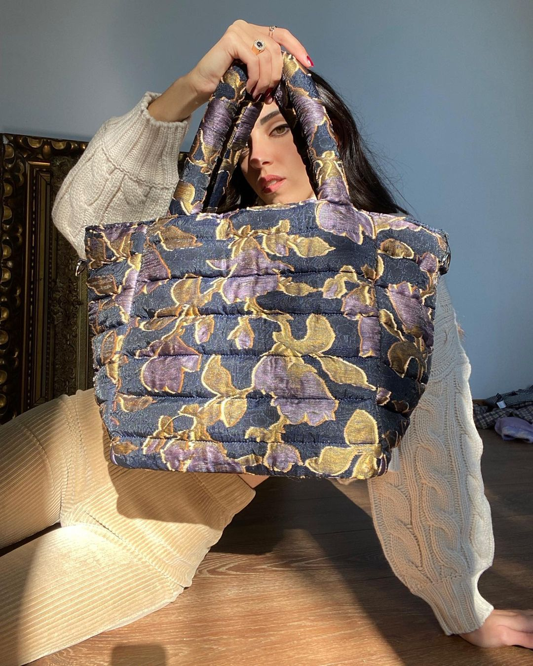 girl holding handbag