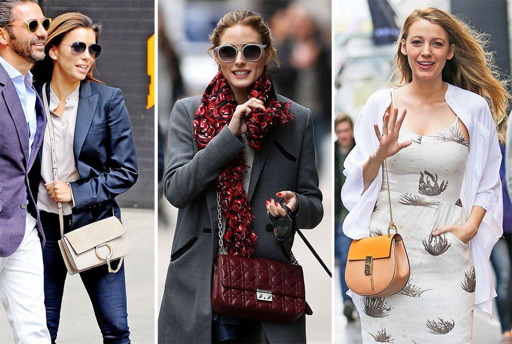 Celebrities wearing See By Chloe bags