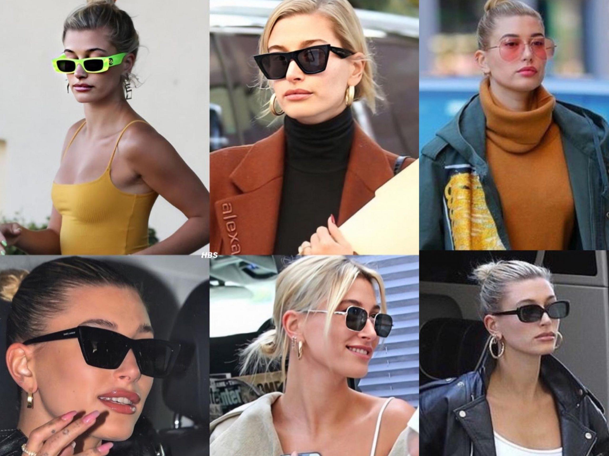 Hailey Baldwin Bieber wearing sunglasses