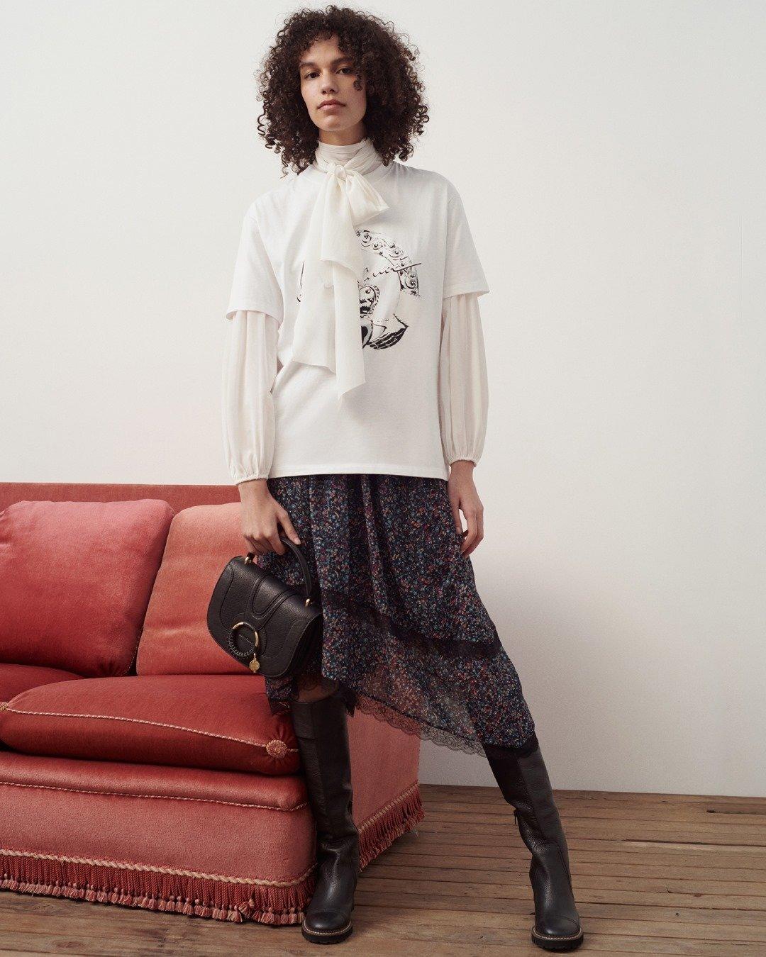 Model wearing See By Chloe Hana Bag